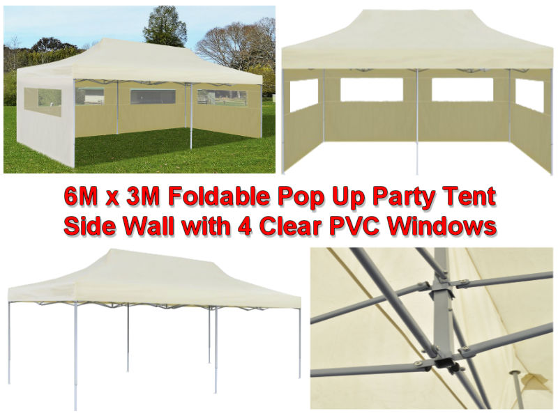 6M x 3M Cream Instant Pop Up Party Tent