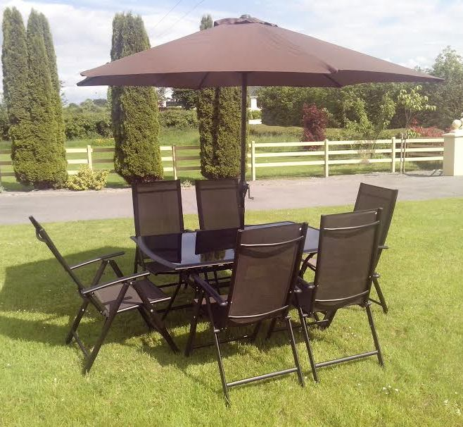 Algarve 8 Piece Aluminium Dining Set