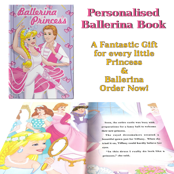 Personalised Ballerina Princess Book