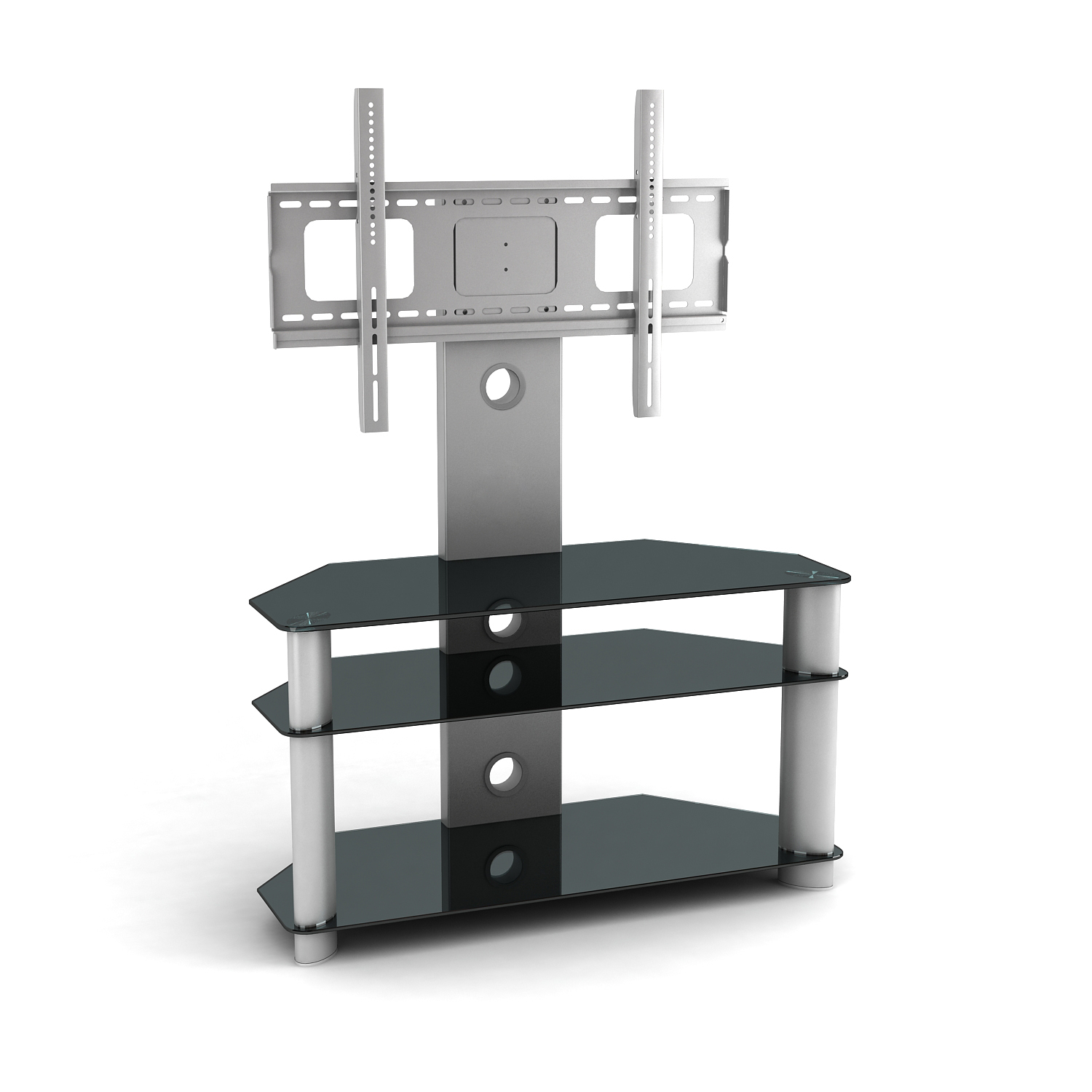 "Cantilever Glass TV Stand for 32""-55"" LCD & LED 3D VESA"