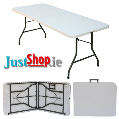 "6ft X 2ft 6"" Fold - In - Half 6ft X 2ft 6"" Trestle Tables"