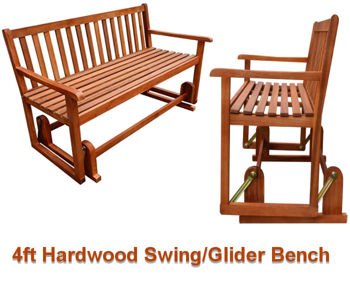Hardwood Glider/Swing Bench