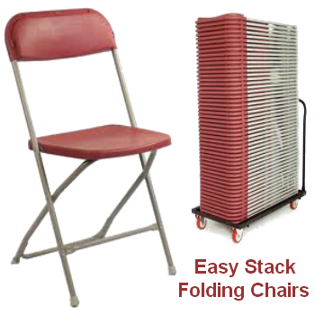 Stacking Chairs - Burgundy - 6 Chairs: